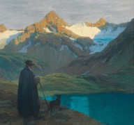 Пастух на озере Финстерталер близ Инсбрука - Штагура, Альберт