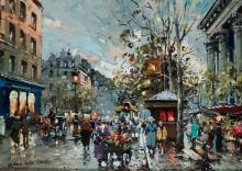 Цветочный рынок в квартале Мадлен - Бланшар, Антуан