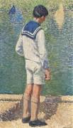 Мальчик на краю пруда Люксембургского сада - Мартен, Анри Жан Гийом