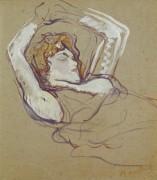 Лежащая женщина - Тулуз-Лотрек, Анри де