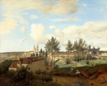 Пейзаж с видом на Суассон - Коро, Жан-Батист Камиль