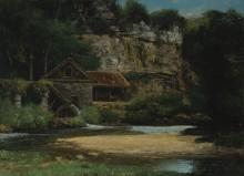Водяная мельница - Курбе, Гюстав