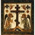 Спас Нерукотворный, деталь - оборот (Прославление креста)