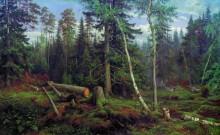 Рубка леса, 1867 - Шишкин, Иван Иванович
