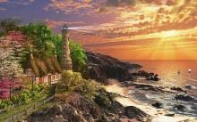 Бухта с каменным маяком - Девисон, Доминик