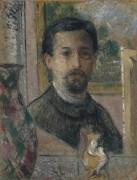 Автопортрет со статуэткой - Луазо, Гюстав