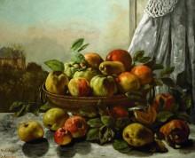 Натюрморт с фруктами - Курбе, Гюстав