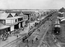Обзор города и железной дороги