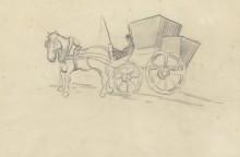 Лошадь и карета (Horse and Carriage), 1890 - Гог, Винсент ван