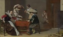 Двое мужчин играют в Трик-трак - Дейстер , Виллем