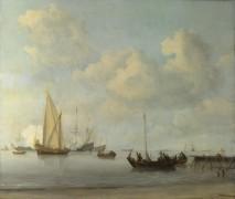 Лодки и яхты во время штиля - Велде, Виллем ван де (Младший)