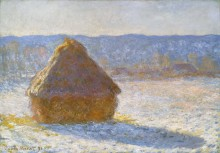 Стог сена утром,  эффект снега, 1891 - Моне, Клод