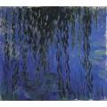 Кувшинки и ветки плакучей ивы, 1916-1919 - Моне, Клод