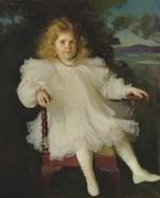 Портрет Марджори Колдуэлл Вестингхаус (девочка в белом платье), 1899 - Бенсон, Фрэнк Уэстон