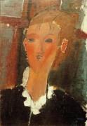 Молодая женщина с белым воротничком - Модильяни, Амадео