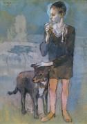 Мальчик с собакой - Пикассо, Пабло