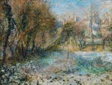 Зимний пейзаж - Ренуар, Пьер Огюст