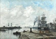 Порт в Булони - Буден, Эжен