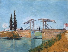 Мост Ланглуа в Арле (The Langlois Bridge at Arles), 1888 - Гог, Винсент ван