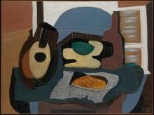 Натюрморт с мандолиной и печеньем - Пикассо, Пабло