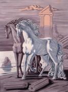 Две лошади на морском берегу - Кирико, Джорджо де