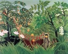 Тропический пейзаж - Руссо, Анри