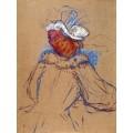 Рыжеволосая женщина, повернутая спиной - Тулуз-Лотрек, Анри де