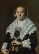 Портрет женщины с веером - Халс, Франс