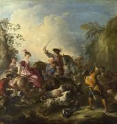 Охота на кабана -  Парросель, Жозеф