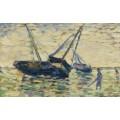 Три лодки в море, 1885 - Сёра, Жорж-Пьер