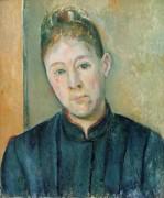 Портрет мадам Сезанн (в девичестве Ортанс Фике) - Сезанн, Поль