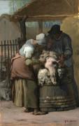 Стрижка овец - Милле, Жан-Франсуа