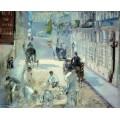 Улица Монье с дорожными рабочими - Мане, Эдуард