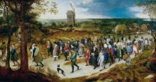 Свадебная процессия, идущая в церковь - Брейгель, Ян (Старший)
