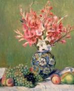 Натюрморт с цветами и фруктами - Ренуар, Пьер Огюст