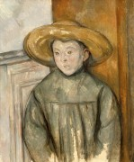 Мальчик в соломенной шляпе - Сезанн, Поль