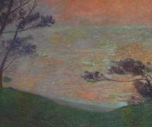 Закат солнца над морем - Мартен, Анри Жан Гийом