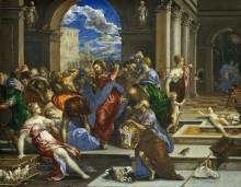 Изгнание торгующих из храма - Греко, Эль