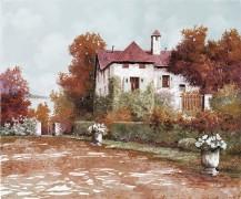 Осенний пейзаж с палаццо - Борелли, Гвидо (20 век)