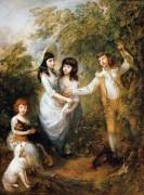Групповой портрет детей Маршам - Гейнсборо, Томас