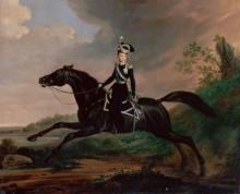Портрет великого князя Александра Николаевича на коне - Крюгер, Франц