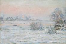 Зимнее солнце, Лавакур, 1879-1880 - Моне, Клод