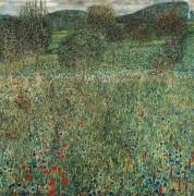 Фруктовый сад с полевыми цветами - Климт, Густав
