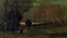 Осенний пейзаж в сумерках (Toward Evening), 1885 - Гог, Винсент ван