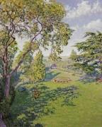 Парк летом,  1909 - Кариот, Густав