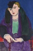 Дама в синем пальто - Матисс, Анри