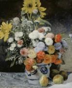 Цветы в глиняном горшке - Ренуар, Пьер Огюст