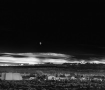 Восход луны, Эрнандес, Нью-Мексико -  Адамс, Ансель