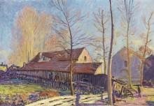 Мельницы Море, мороз, вечерний эффект 1888 - Сислей, Альфред