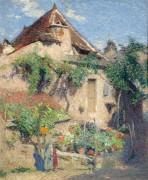 Дом и сад в Санкт-Керк-Лапопи, 1920 - Мартин, Анри Жан Гийом Мартин